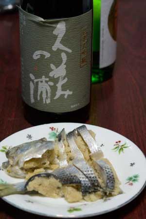 このしろ寿司には日本酒