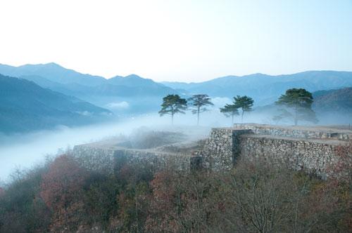 竹田城と霧