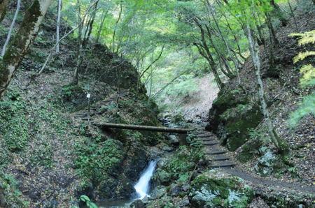 天滝への道のり