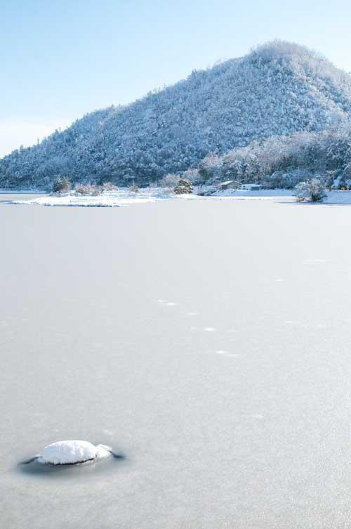 久美浜湾雪