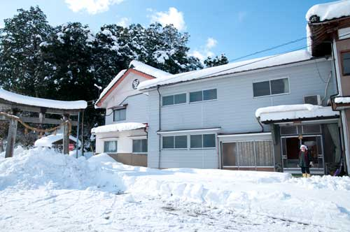 堅木屋の周りも大雪